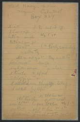 Cheyenne linguistic and ethnological notes from Mack Haag, undated