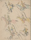 Book of drawings by unidentified Cheyenne artist at Fort Marion, Florida, 1875 August