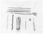 Implements used in games; snake game; stick game; counter; bone game;