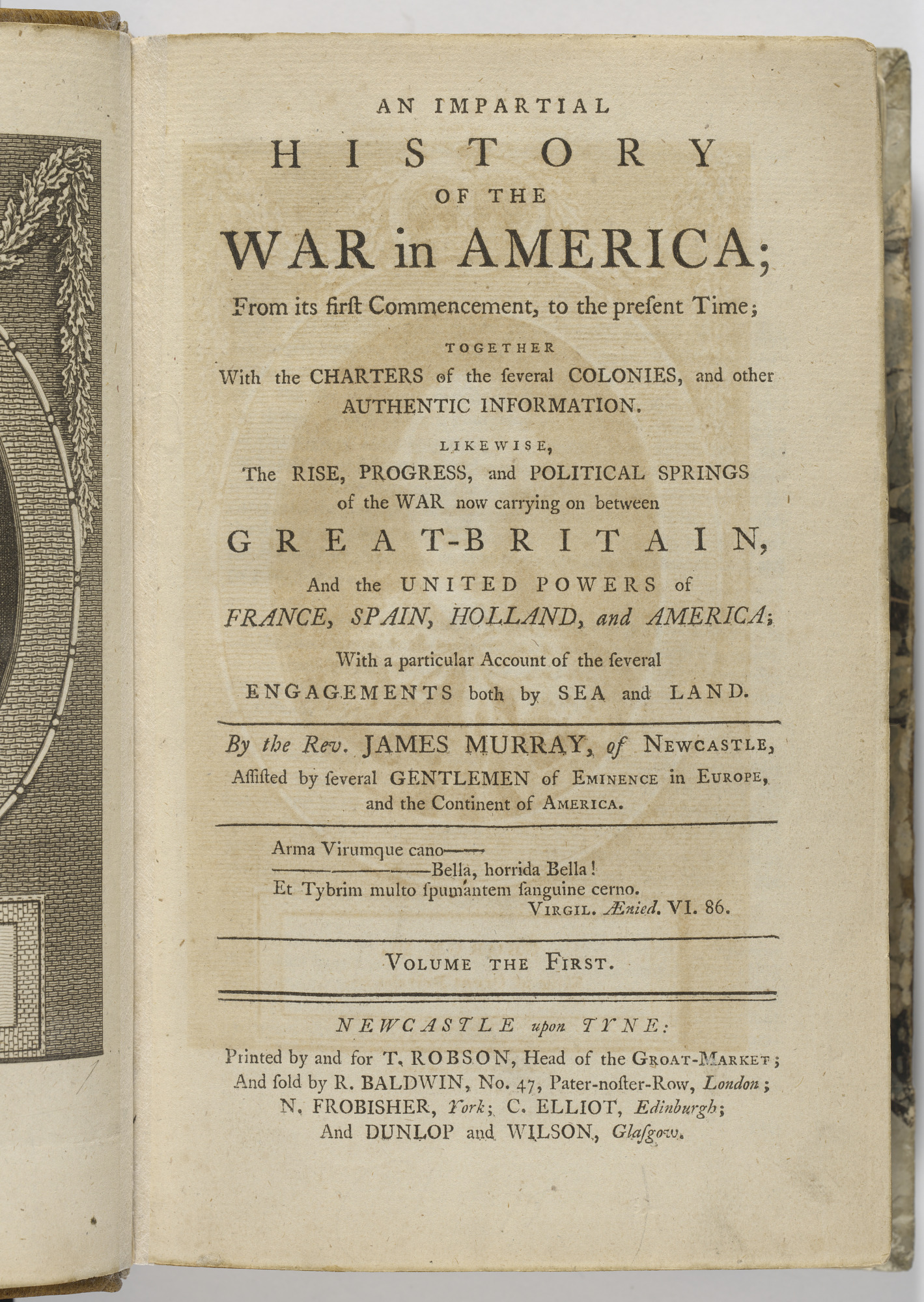 An Impartial History of the War in America, Vol. 1