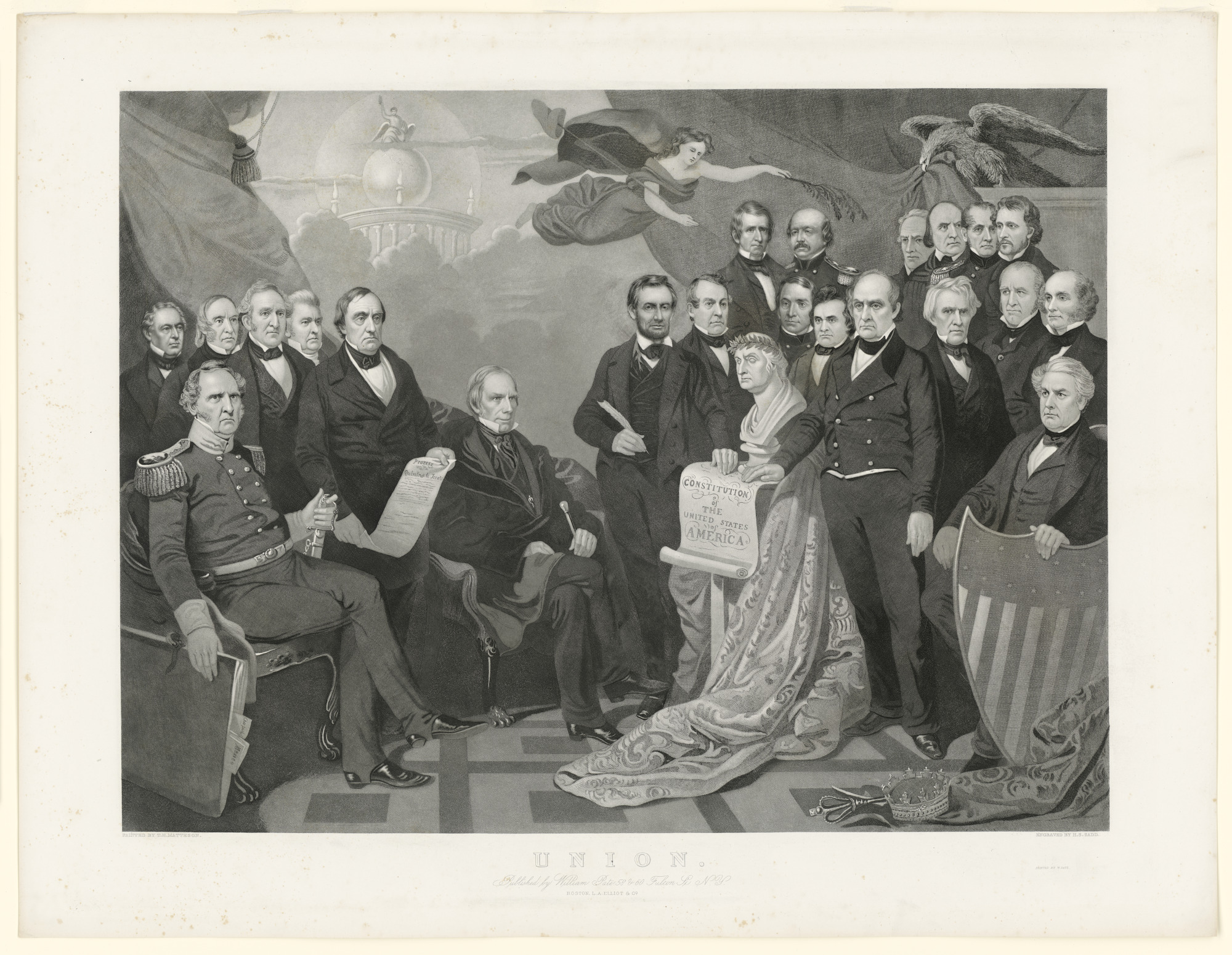 Lincoln with Major Union Figures