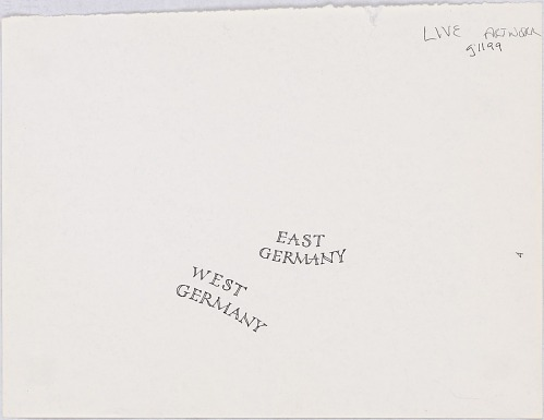 Germany - map lettering
