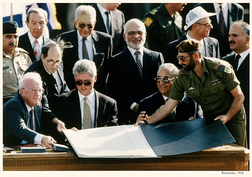 Peace Signing on the Jordan River
