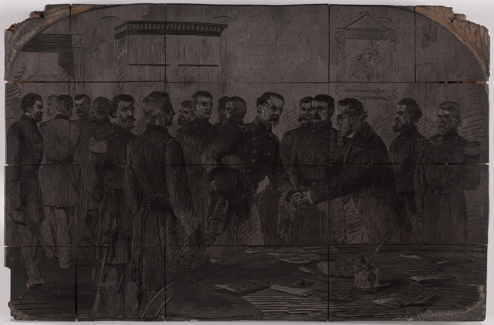 Stanton Receiving Officers of Army at War Department