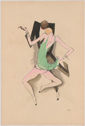 Le Tumulte Noir/Dancing Pair with Woman in Green