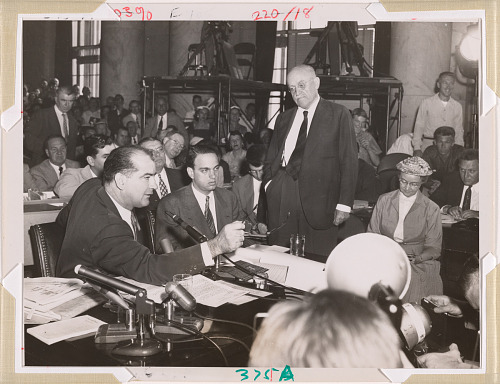 Joe McCarthy, Roy M. Cohn and Ralph Flanders