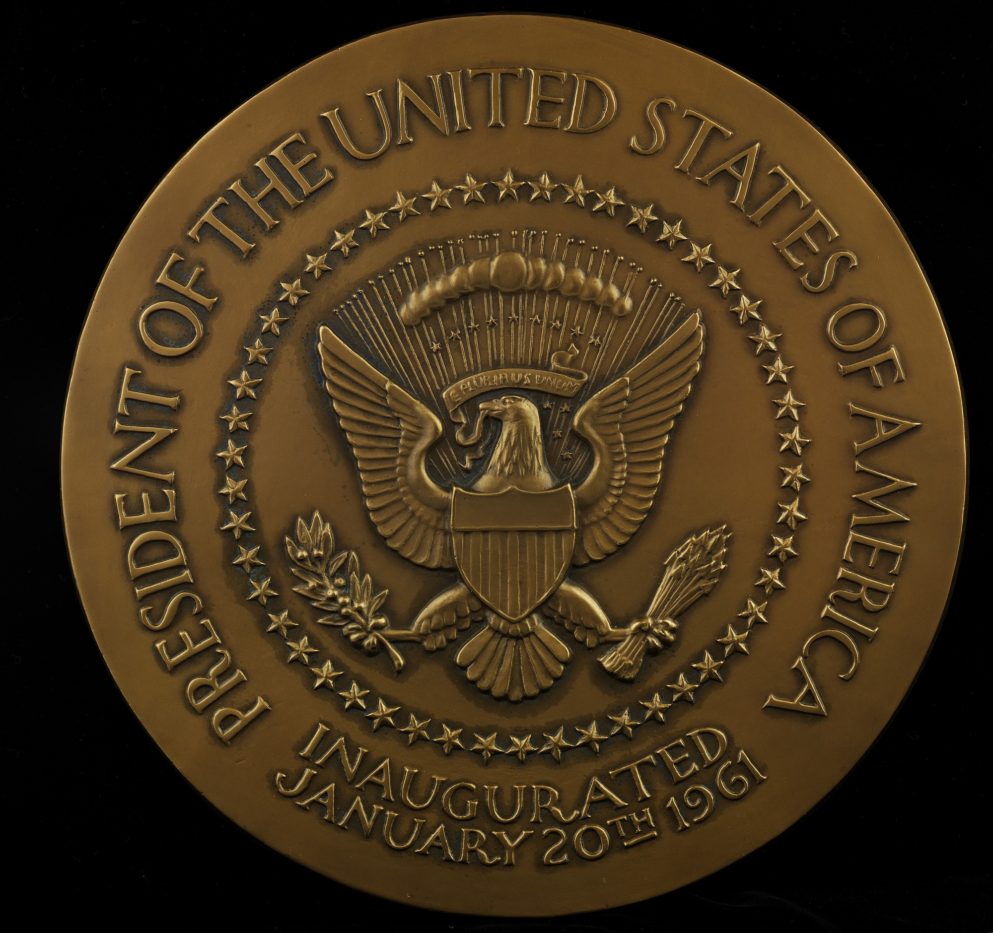 John F. Kennedy Inaugural Medal (Galvano of reverse)