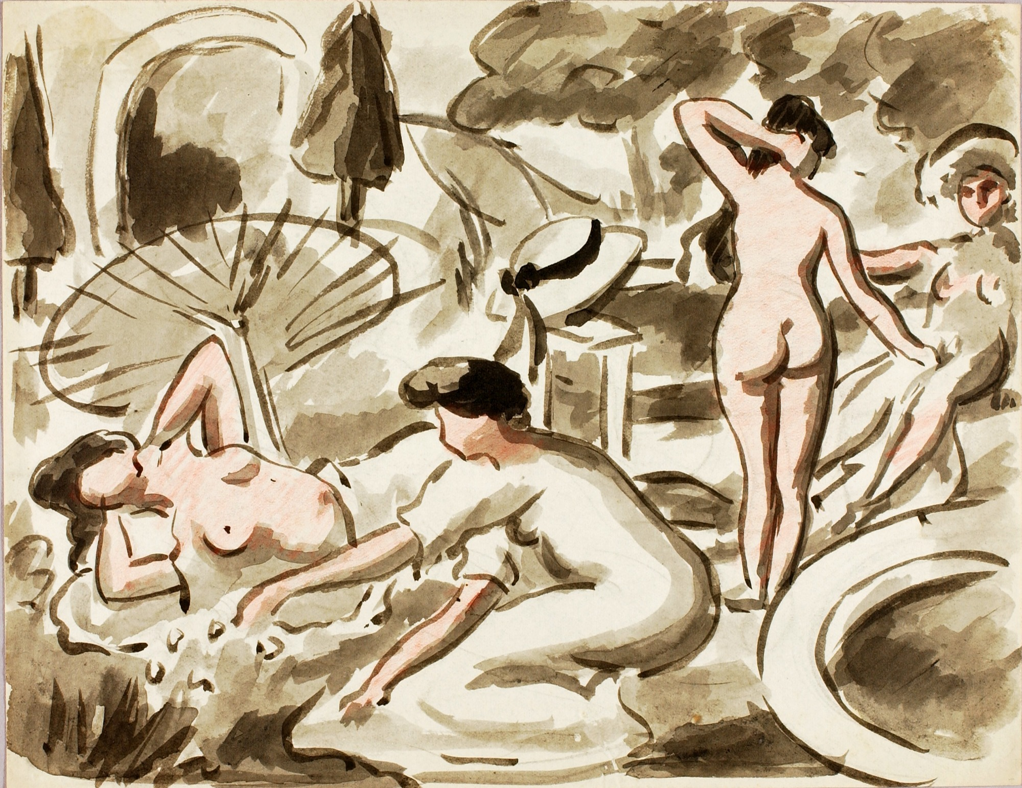 Group of Nude and Semi-Nude Women