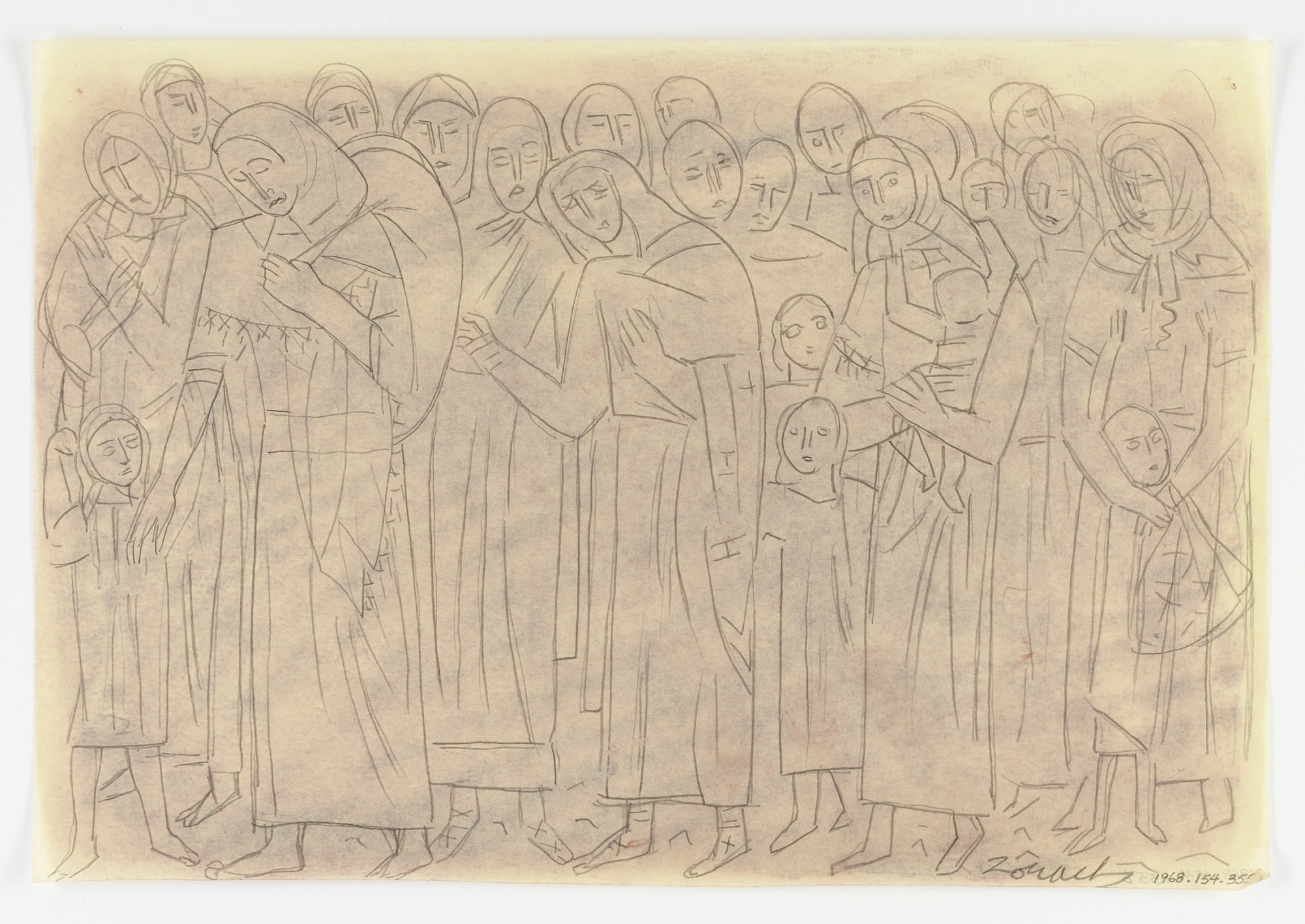 Study for Panel of Monument to Six Million Jews Destroyed by the Nazis in Germany