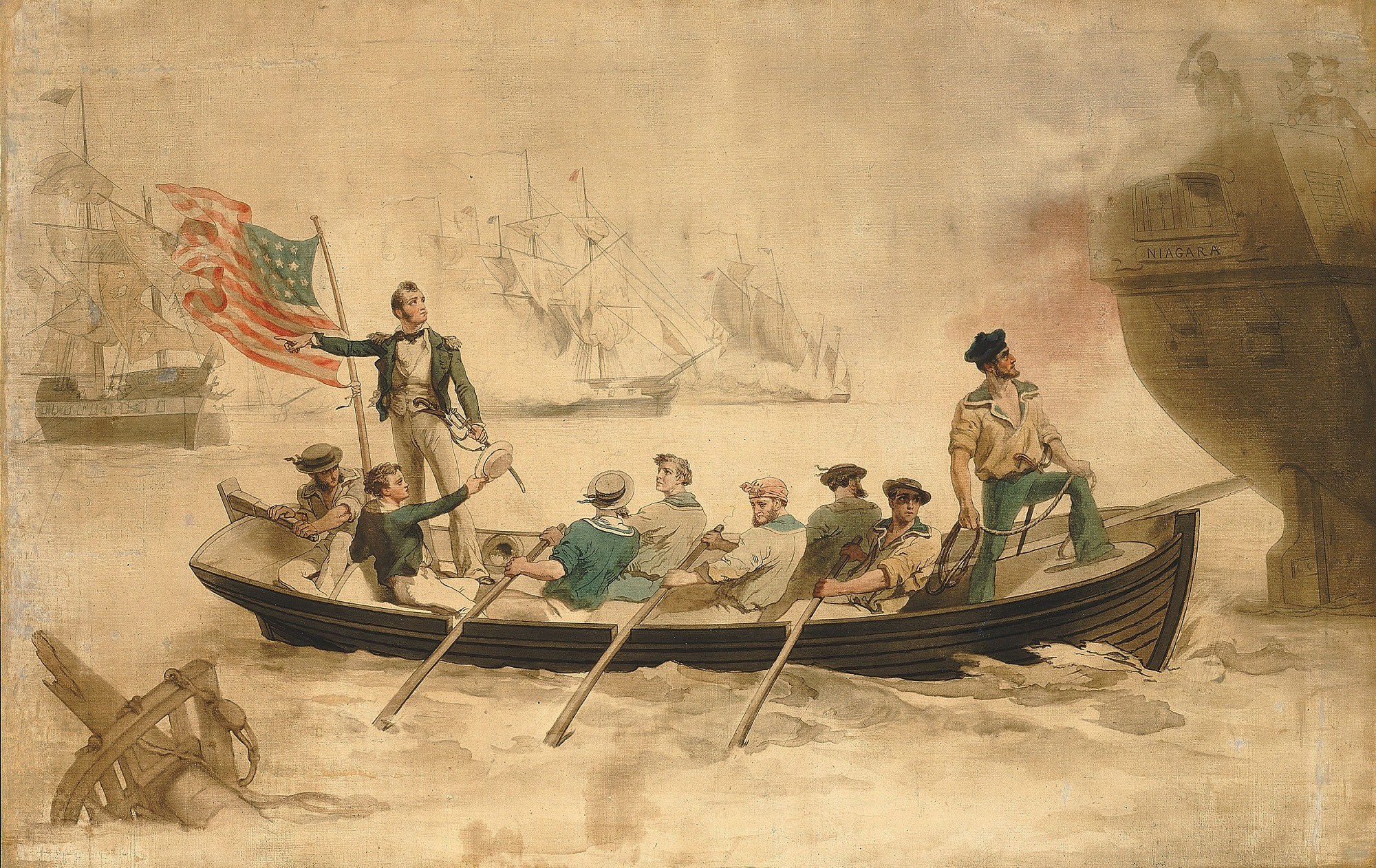 Perry Transferring His Flag to the Niagara