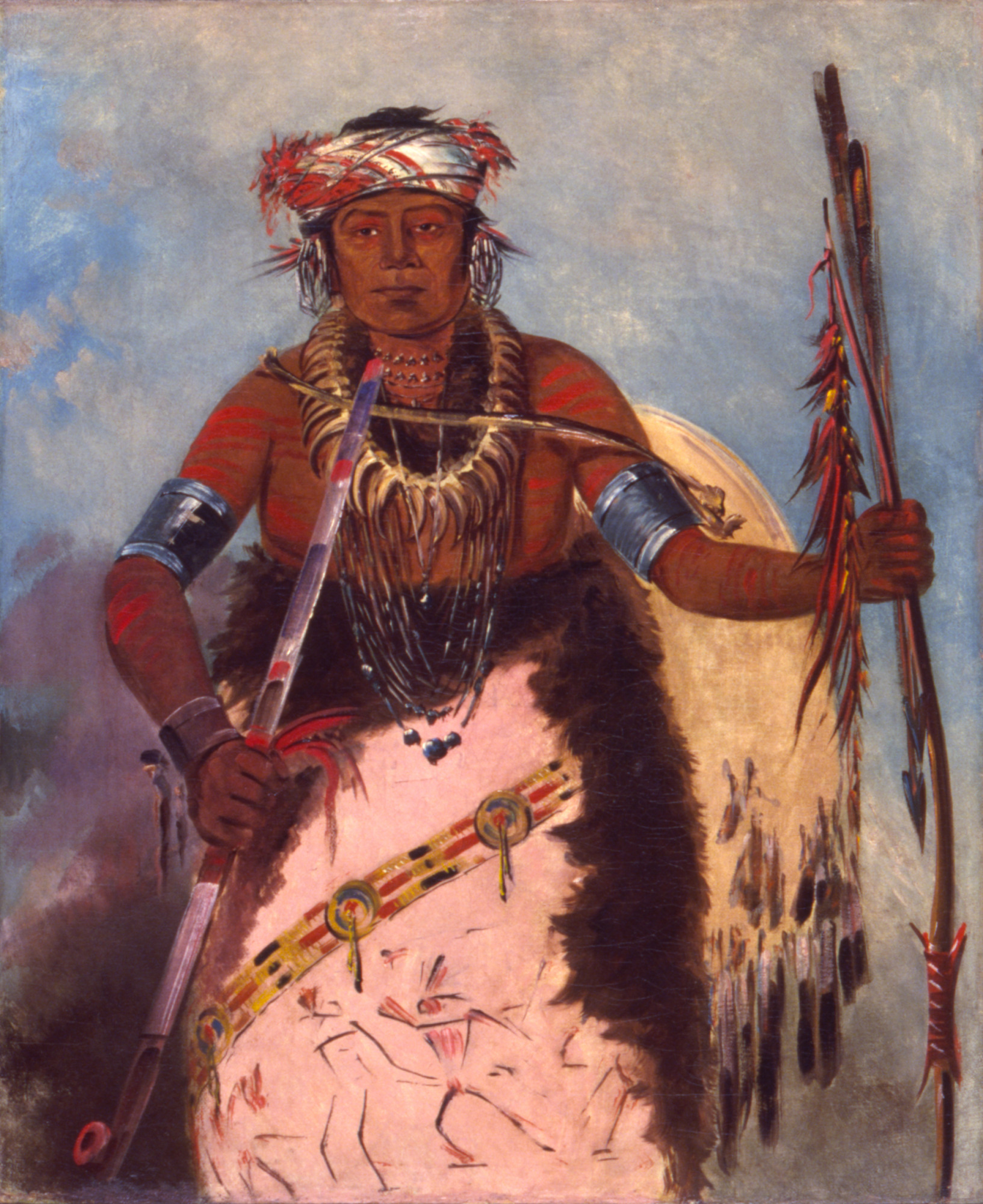 Notch-ee-níng-a, No Heart, (called White Cloud), Chief of the Tribe