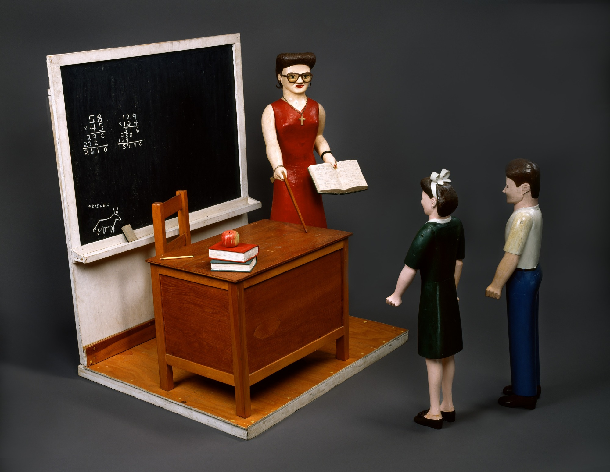 Classroom with Three Figures