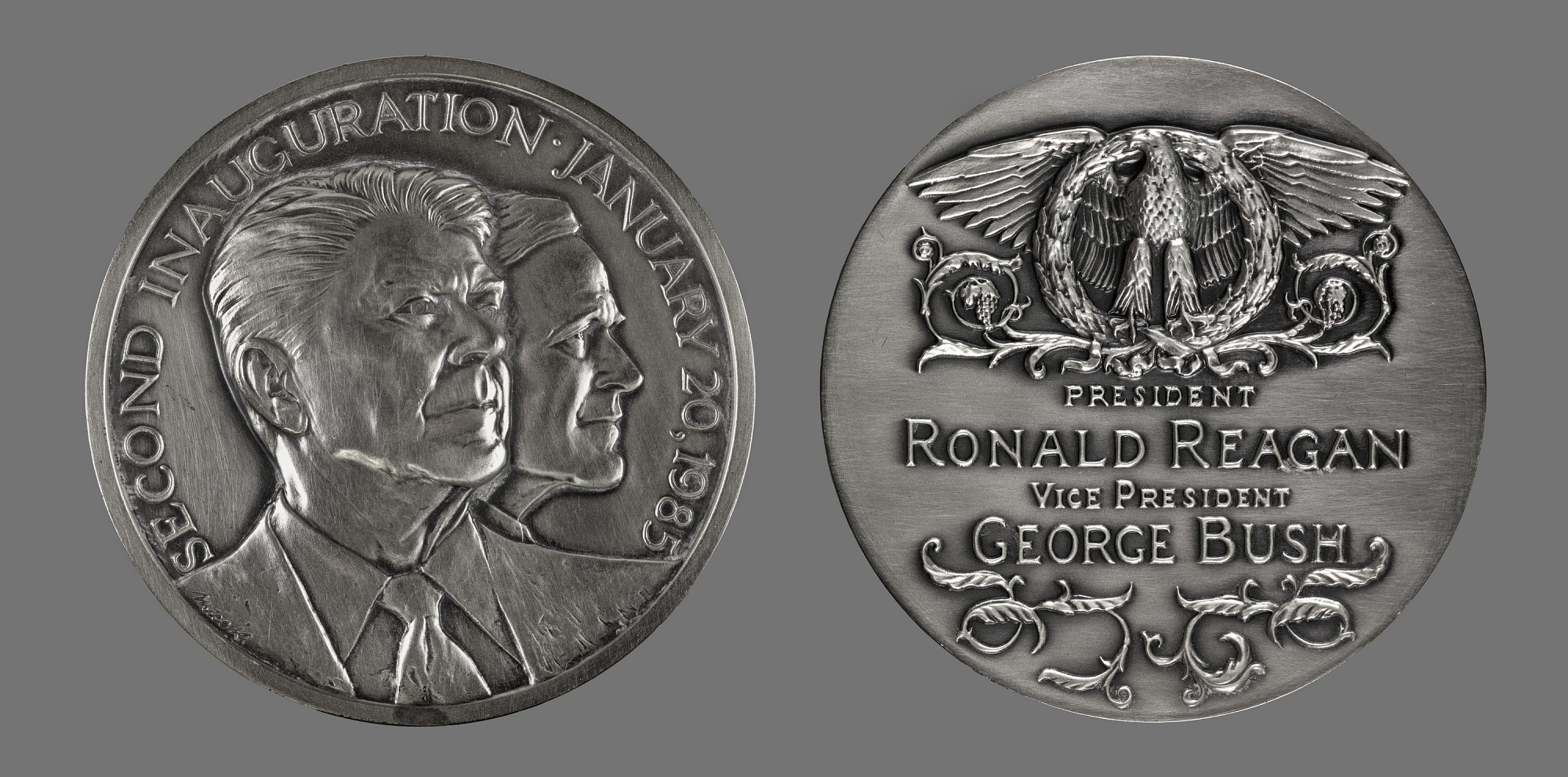 Ronald Reagan and George H. W. Bush Presidential Inaugural Medal