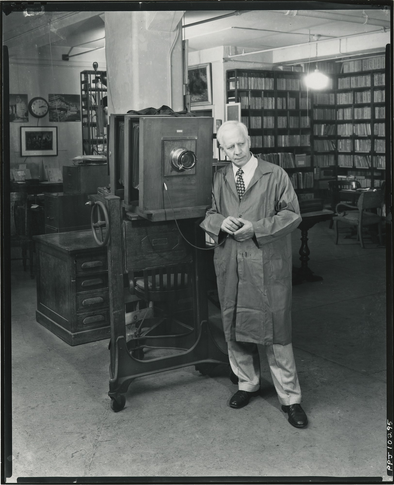 Paul P. Juley in his New York West 57th Streeet studio