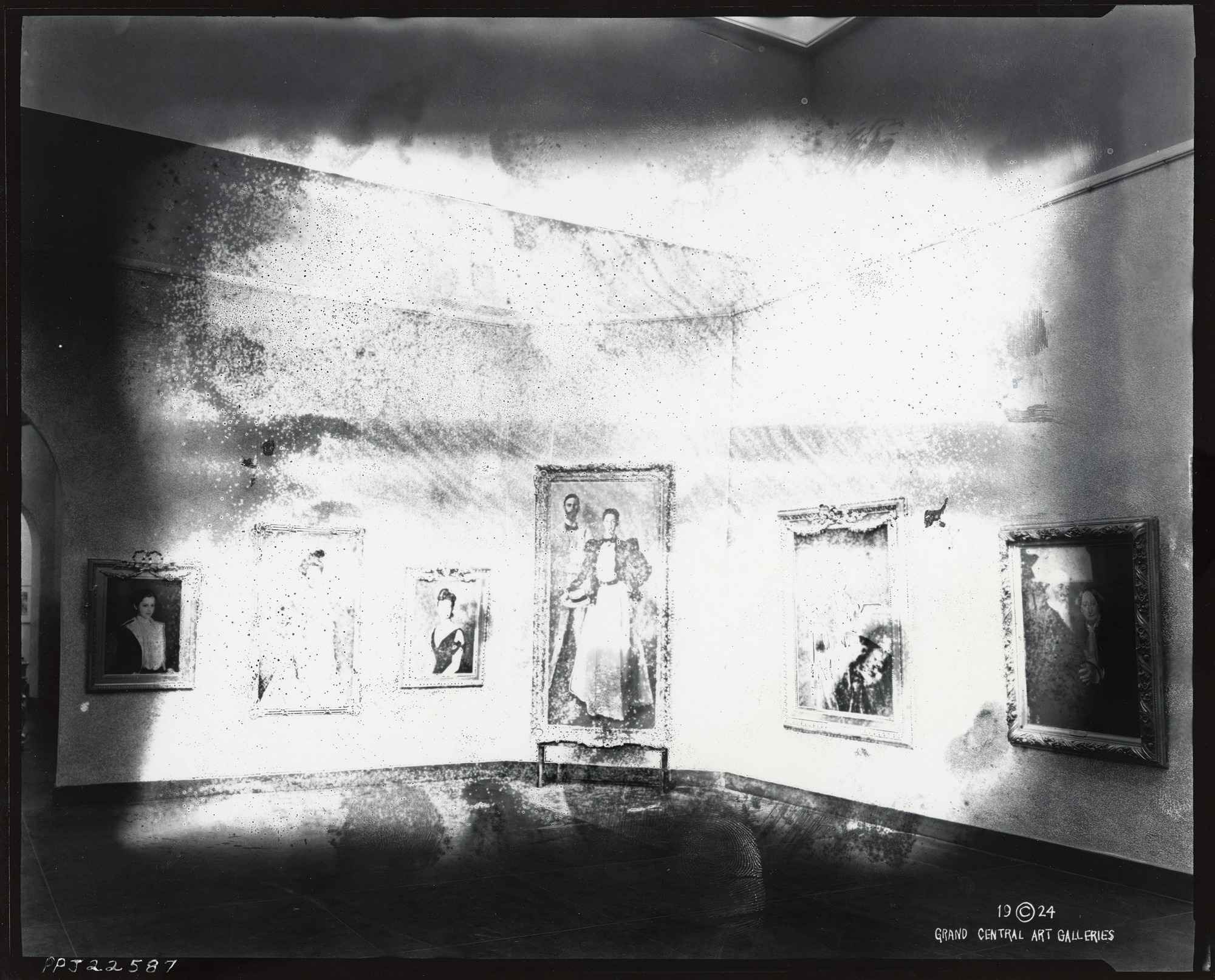 "Installation view of ""Retrospective Exhibition of Important Works of John Singer Sargent,"" Grand Central Art Galleries, New York [photograph] / (photographed by Peter A. Juley & Son)"