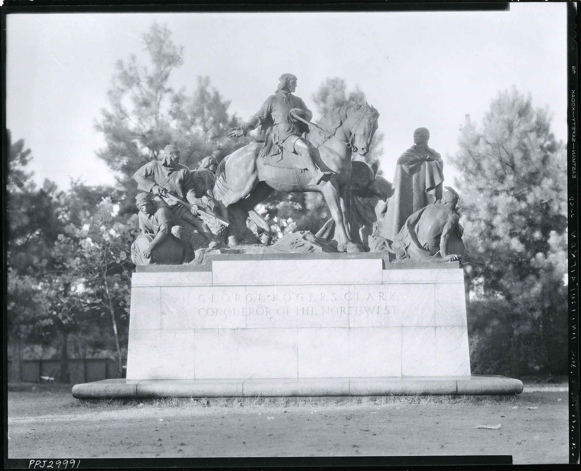 George Rogers Clark sculpture / (photographed by Peter A. Juley & Son)