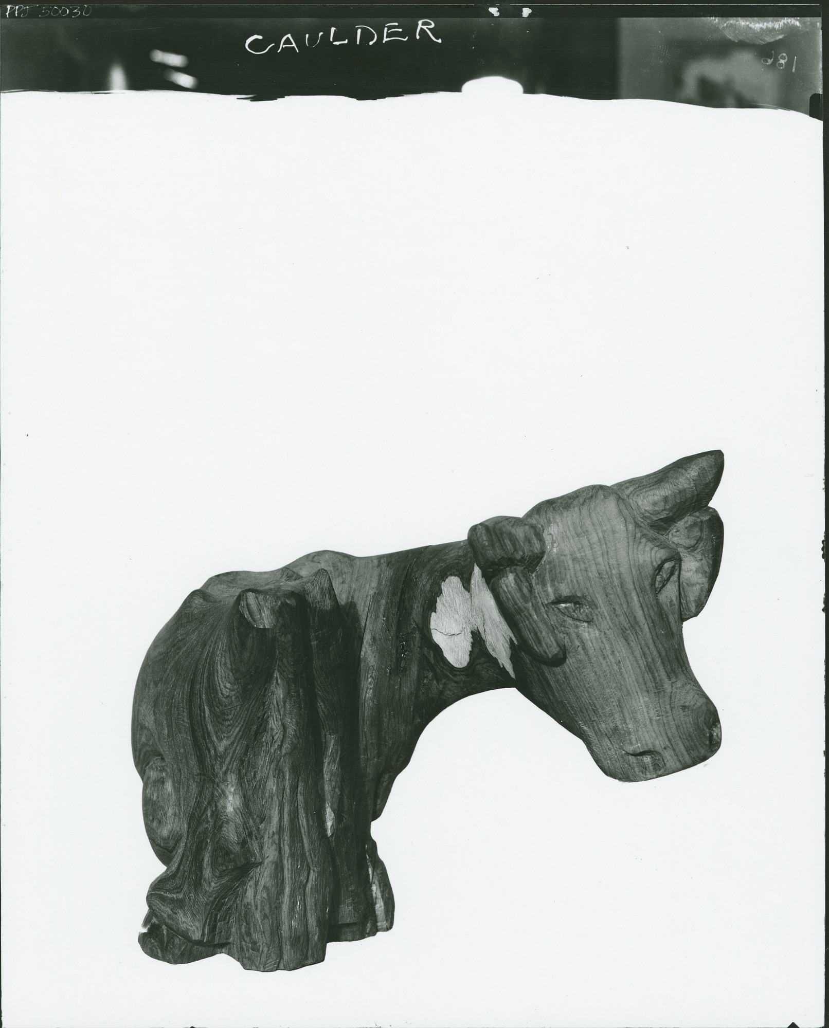 Cow sculpture / (photographed by Peter A. Juley & Son)