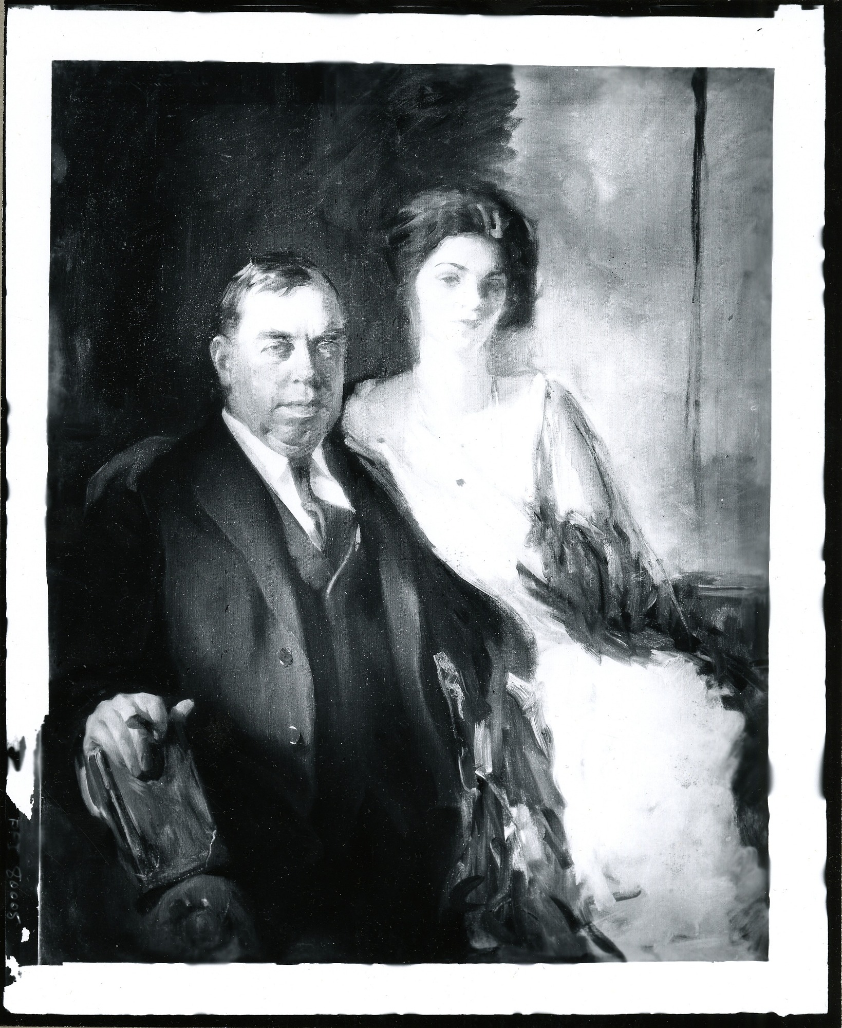 Irvin Shrewsbury Cobb and Daughter painting / (photographed by Peter A. Juley & Son)