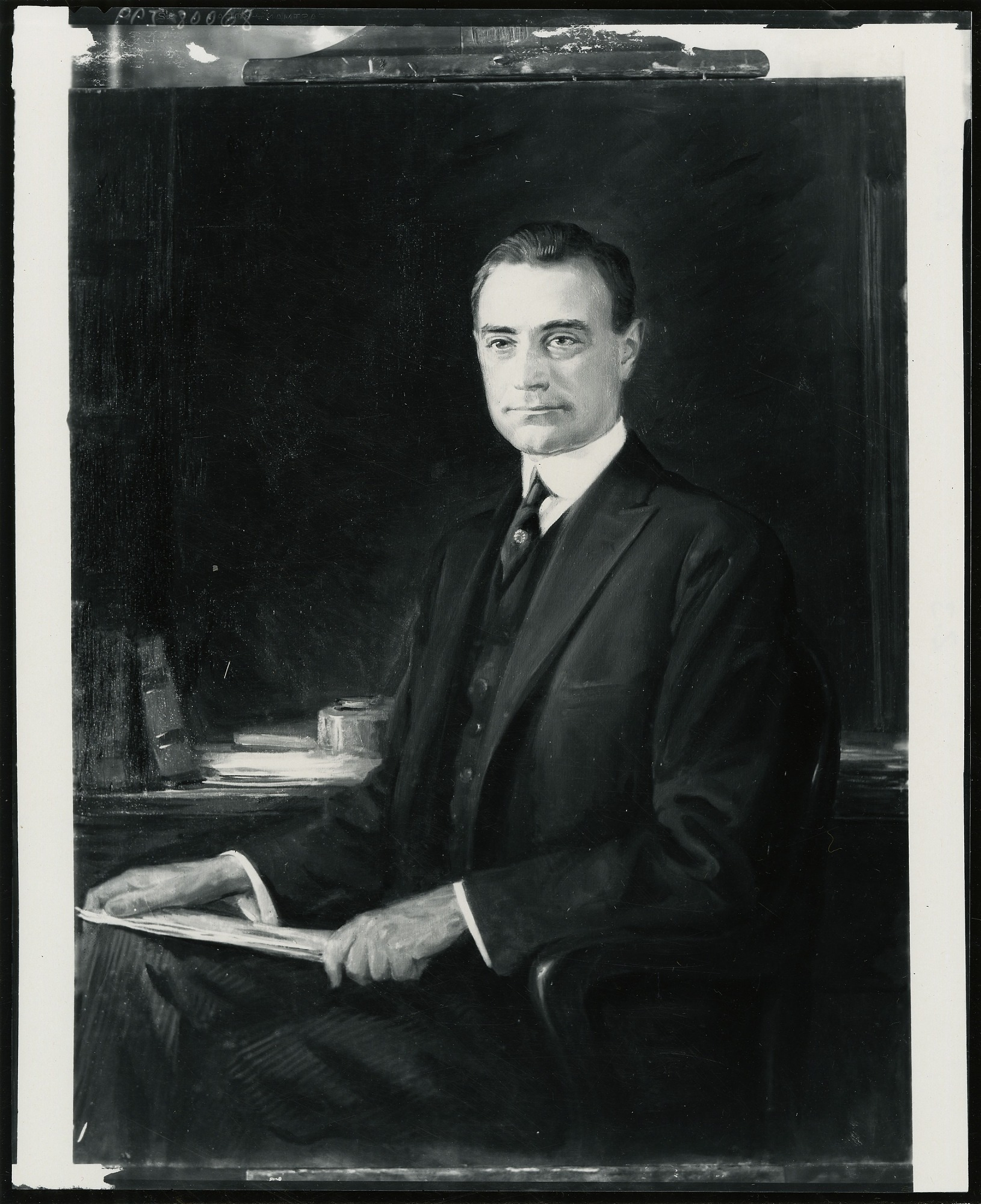 Mayor John Purroy Mitchel painting / (photographed by Peter A. Juley & Son)
