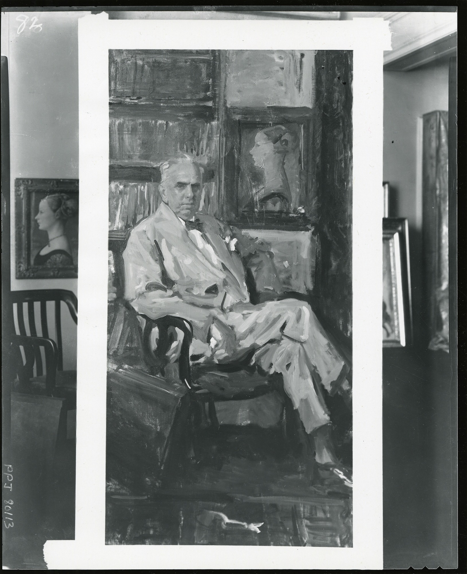Theodore Dreiser painting / (photographed by Peter A. Juley & Son)