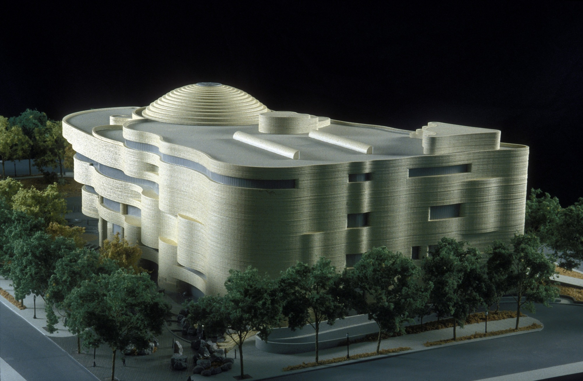 NMAI Model, by Strauss, Richard, February 16, 2001, Smithsonian Archives - History Div, 2001-1170.