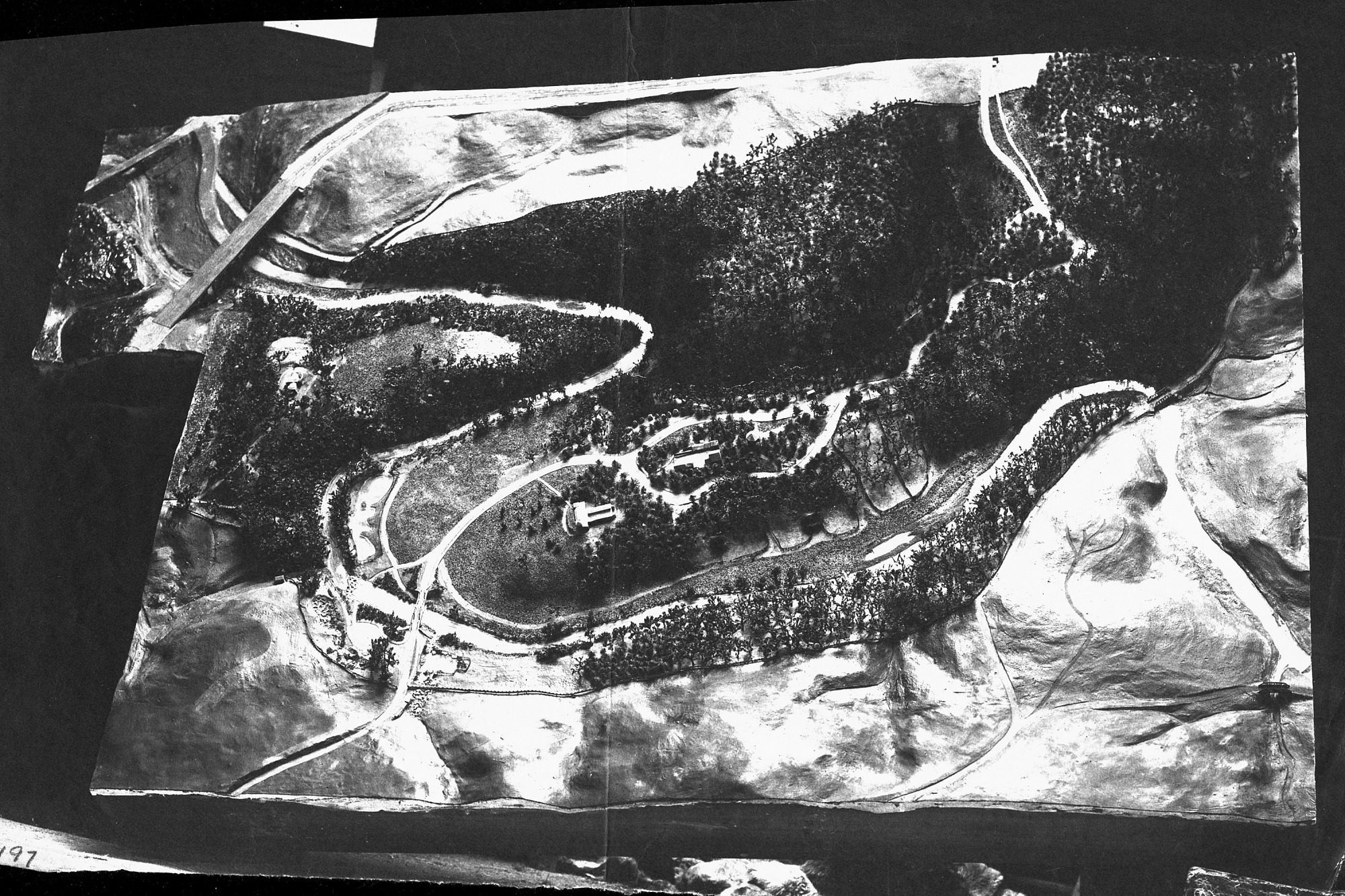 Model of the National Zoo, by Unknown, c. 1888, Smithsonian Archives - History Div, 2002-10703.