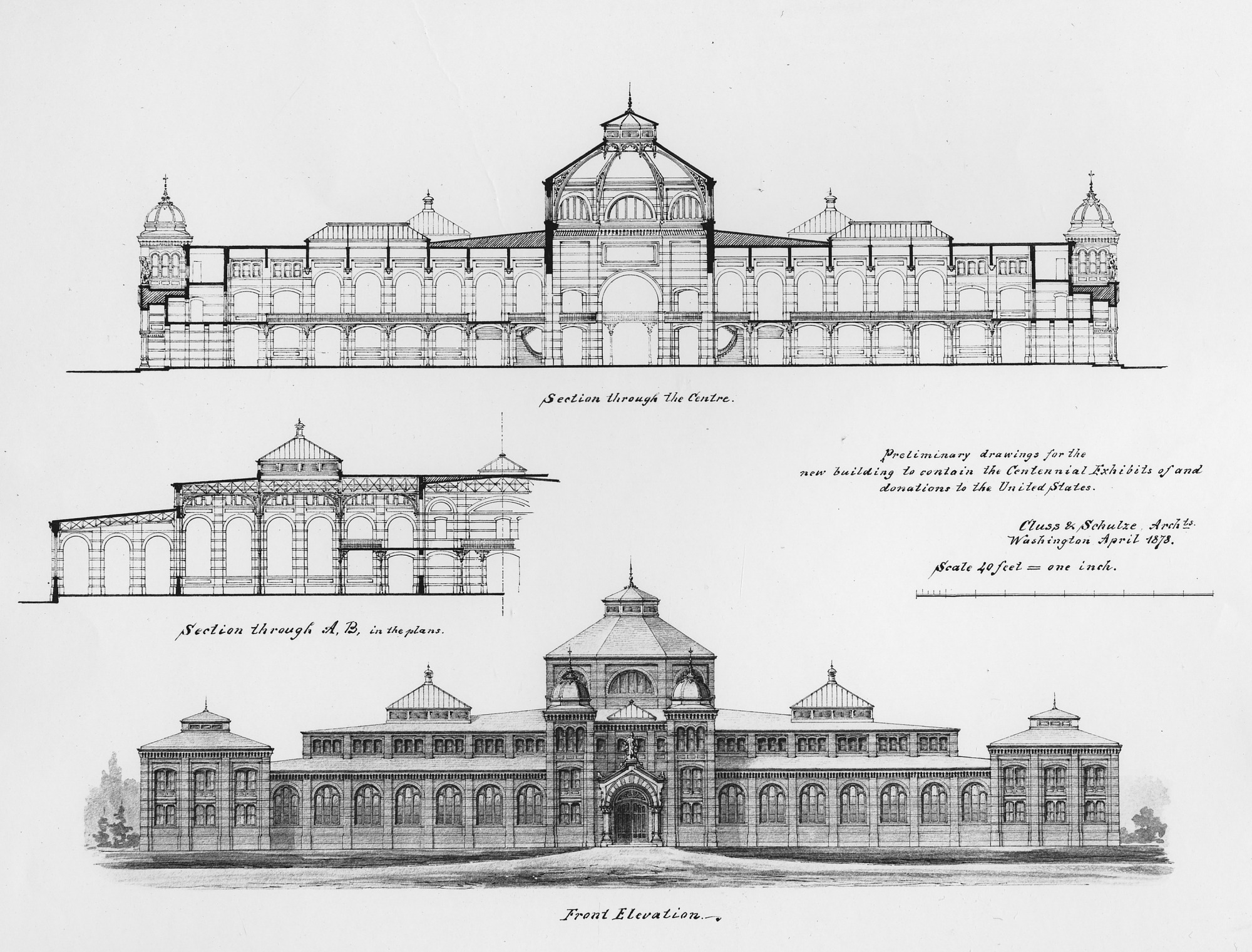 Plans for the United States National Museum