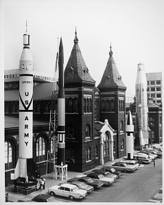 Image of Rocket Row on West Side of A&I Building