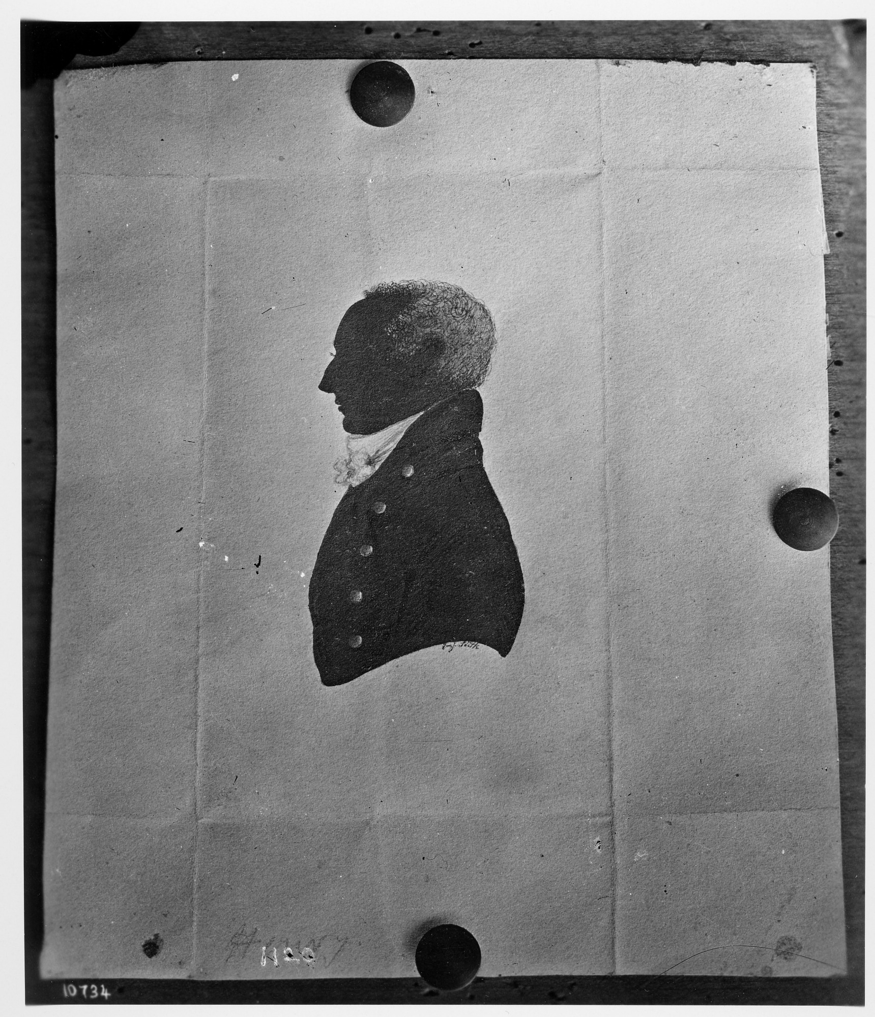 Silhouette of Henry James Hungerford, 1830. Smithsonian Institution Archives, negative number 2002-12209.