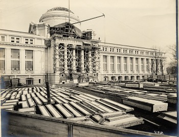 Preview of Construction on front of National Museum of Natural History, 1909