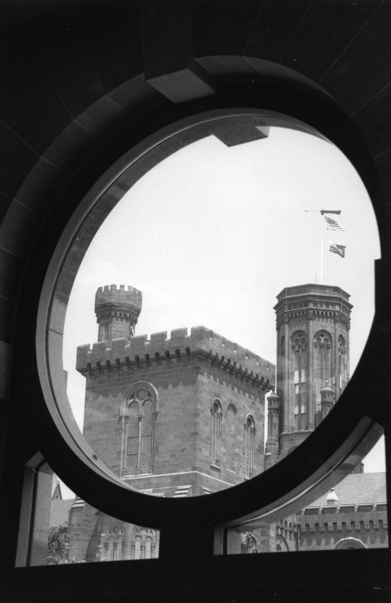 View of Castle through African Art Museum Window