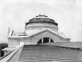 Preview of Construction on Dome, NMNH, 1909