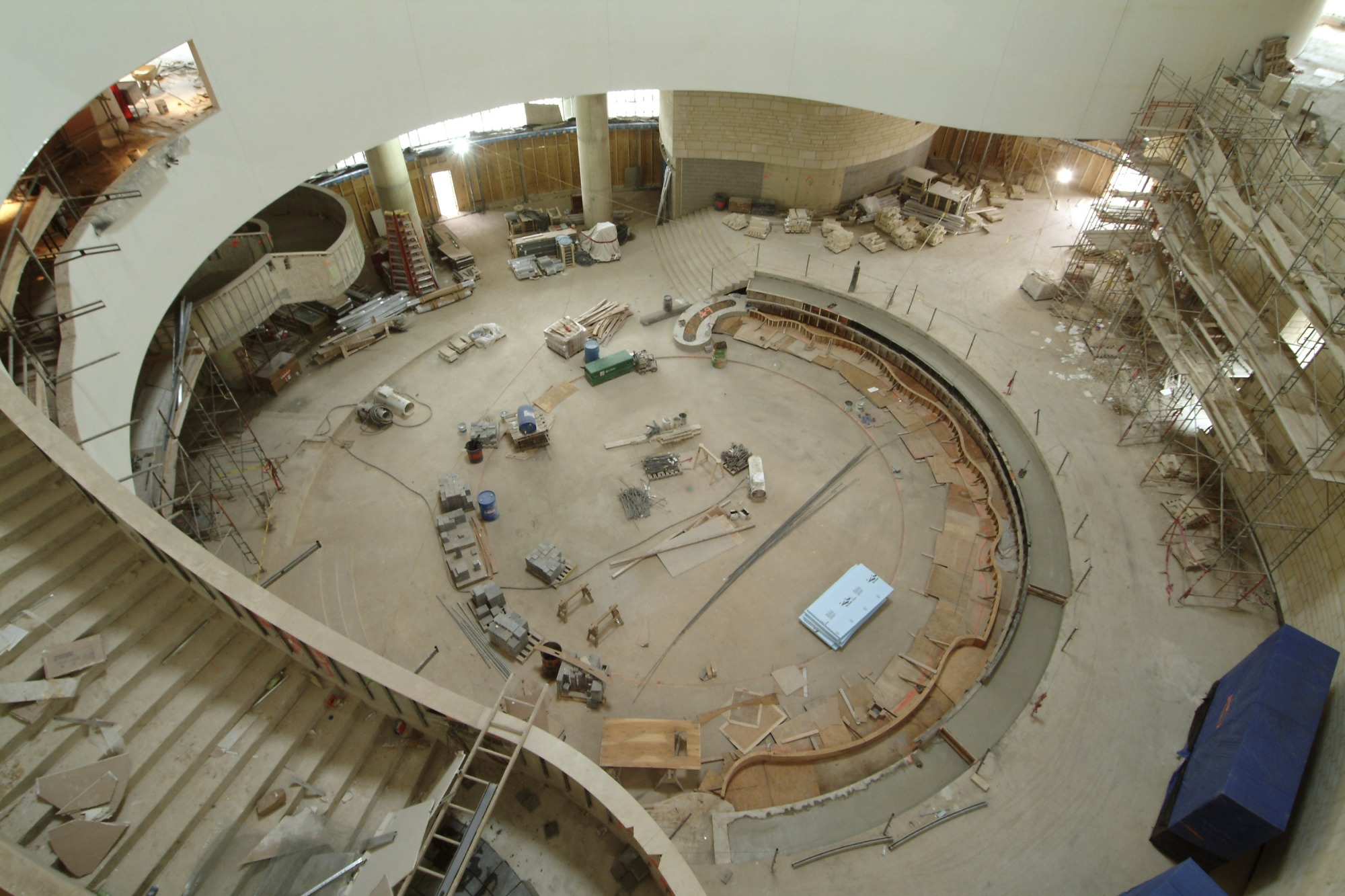 NMAI Atrium During Construction