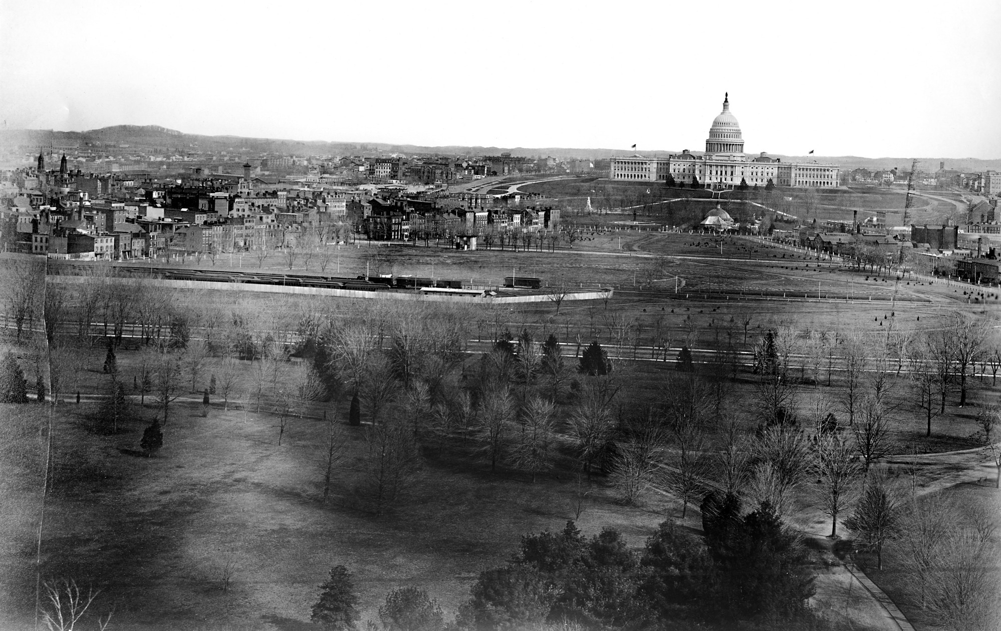 Panoramic View of Washington, D.C. - Looking Toward West Side of U.S. Capitol