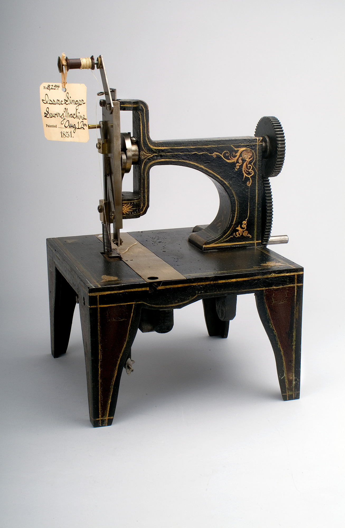1851 Singer's Sewing Machine Patent Model | National Museum