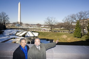 Image of Bunch and Conwill Look at NMAAHC Museum Site