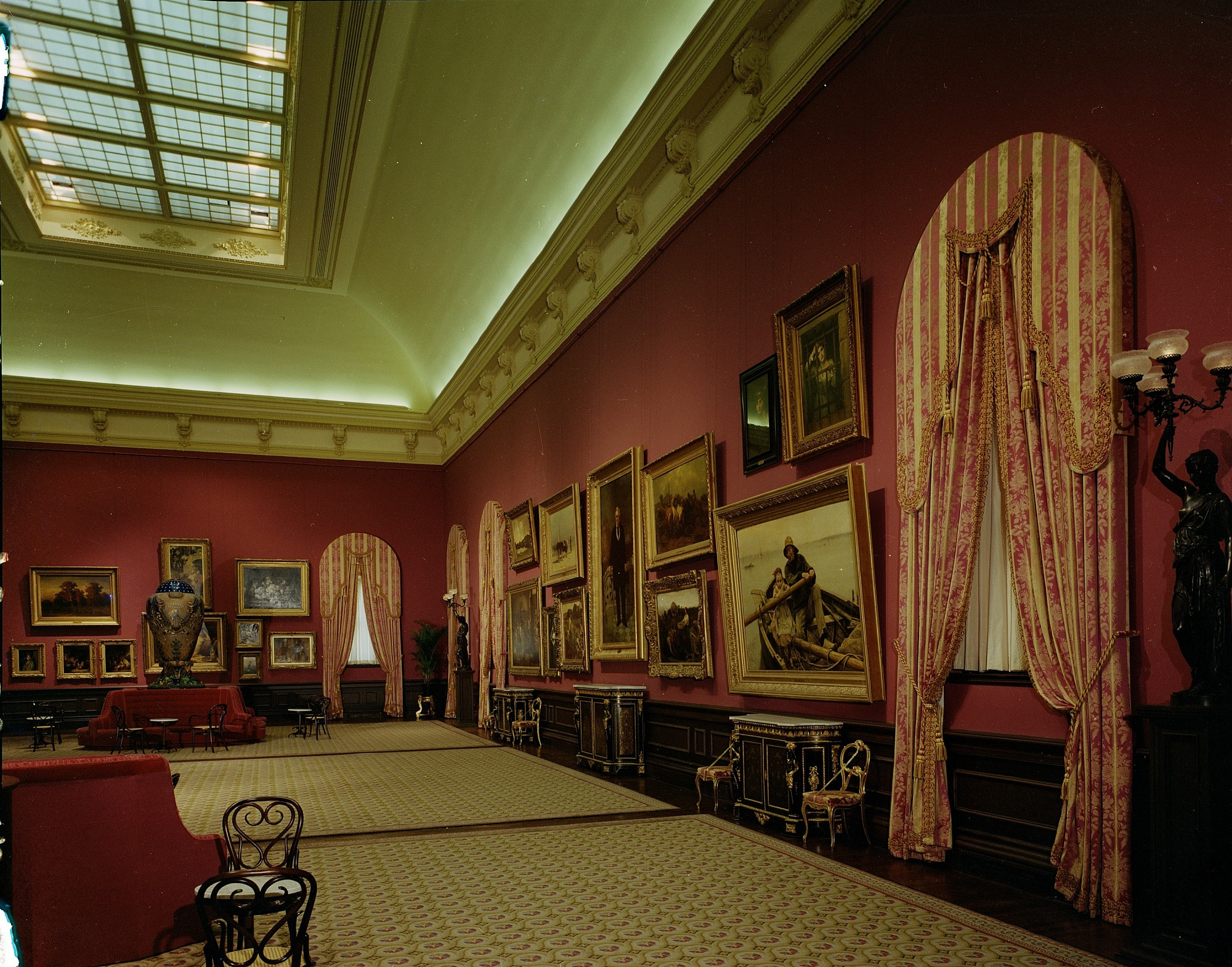 Grand Salon, Renwick Gallery, by Unknown, 1972, Smithsonian Archives - History Div, 72-4230.