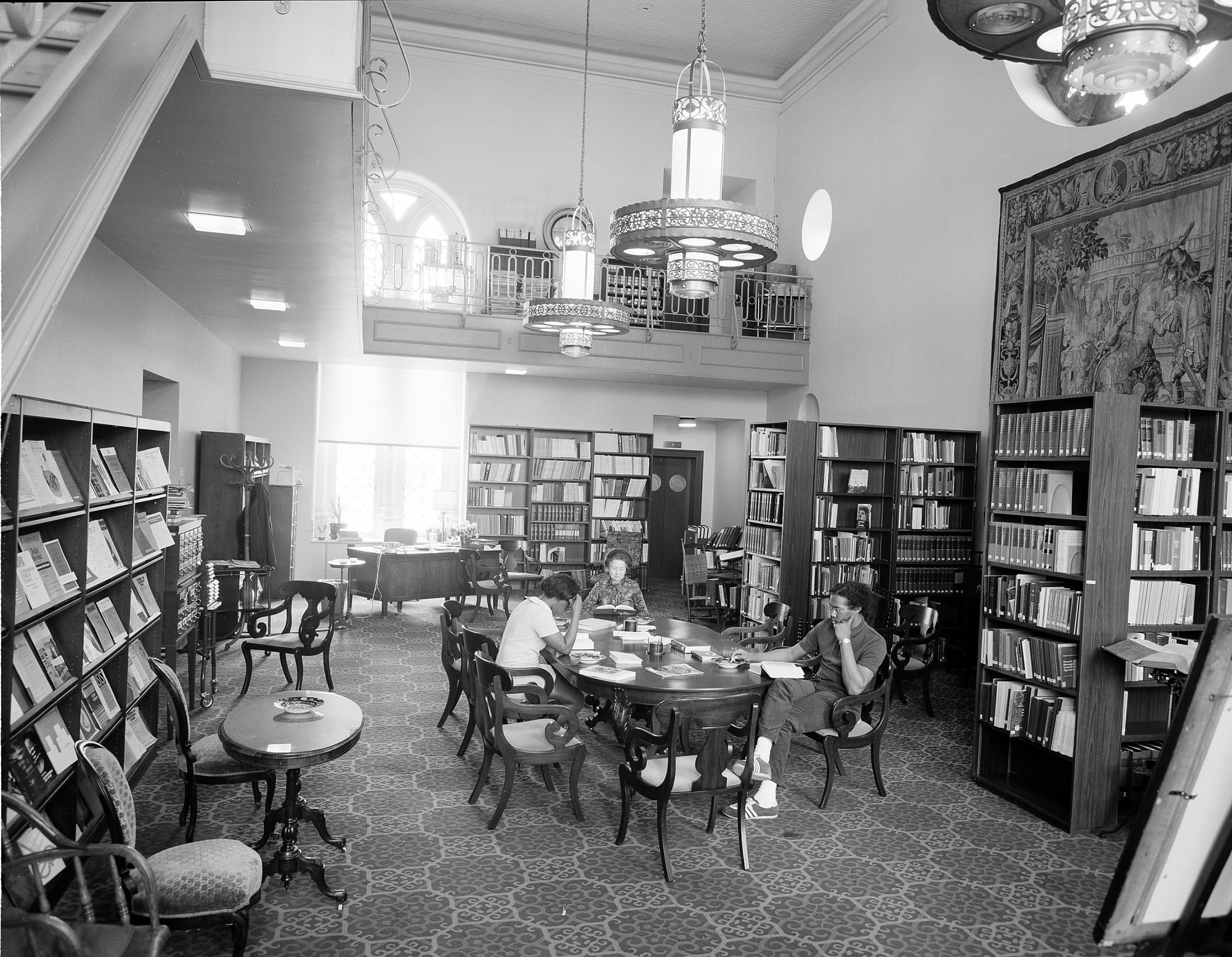 Woodrow Wilson Library, SIB, by Unknown, 1972, Smithsonian Archives - History Div, 72-4900.