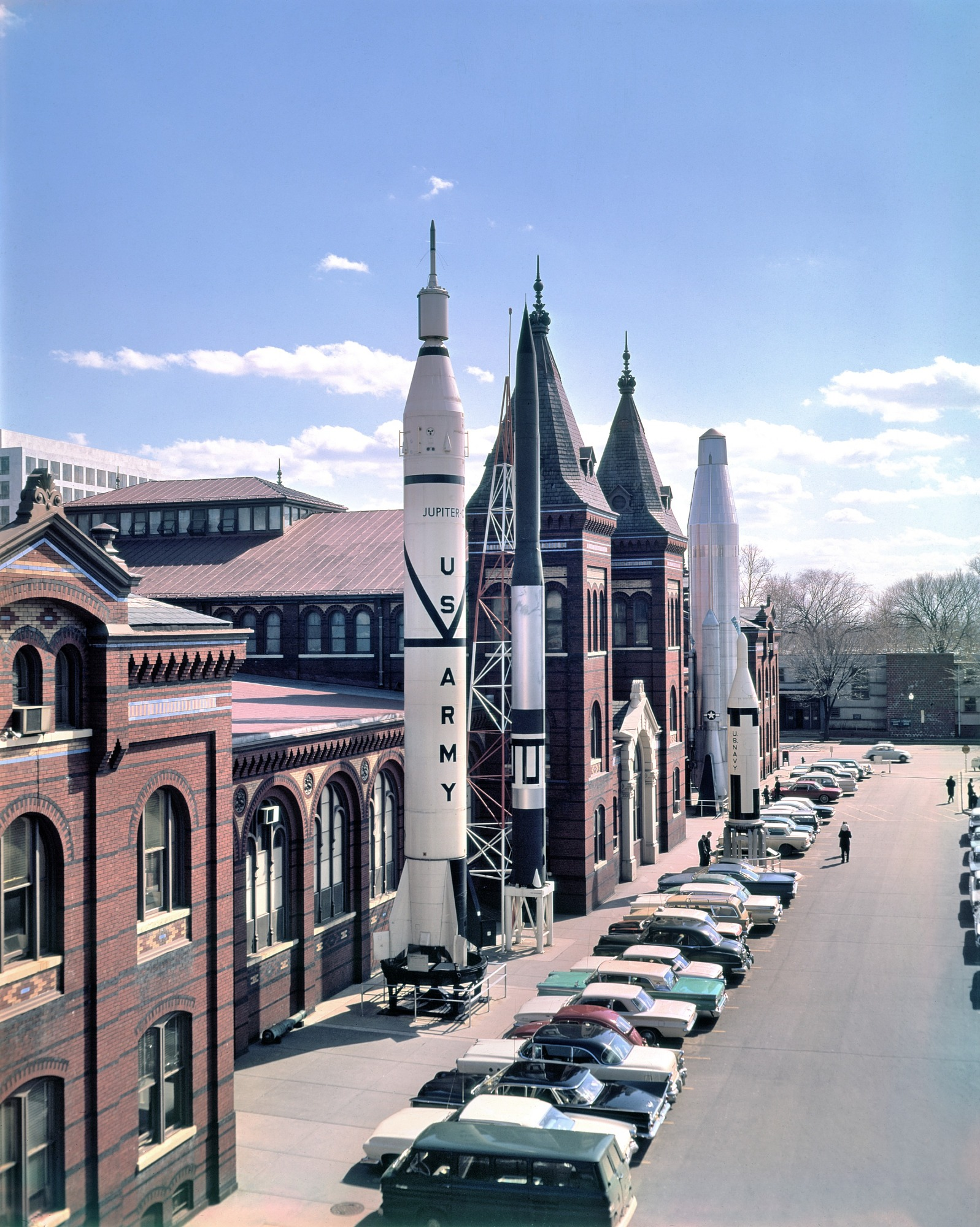 Rocket Row, by Unknown, 1959, Smithsonian Archives - History Div, 73-7185.