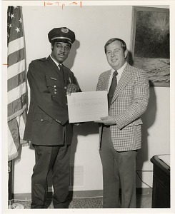 Image of Guard of the Month Pfc. Freddie Young, Company C
