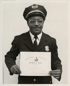 Image of Guard of the Month Pfc. Roger Thomas, Company D