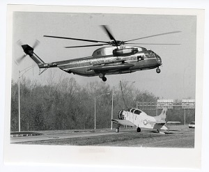 Image of Moving of Aircraft to Silver Hill Facility with Helicopter