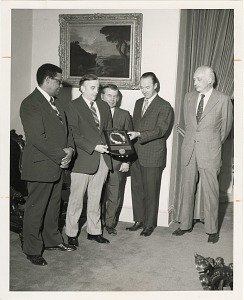 Image of Presentation of President's Safety Award for 1972