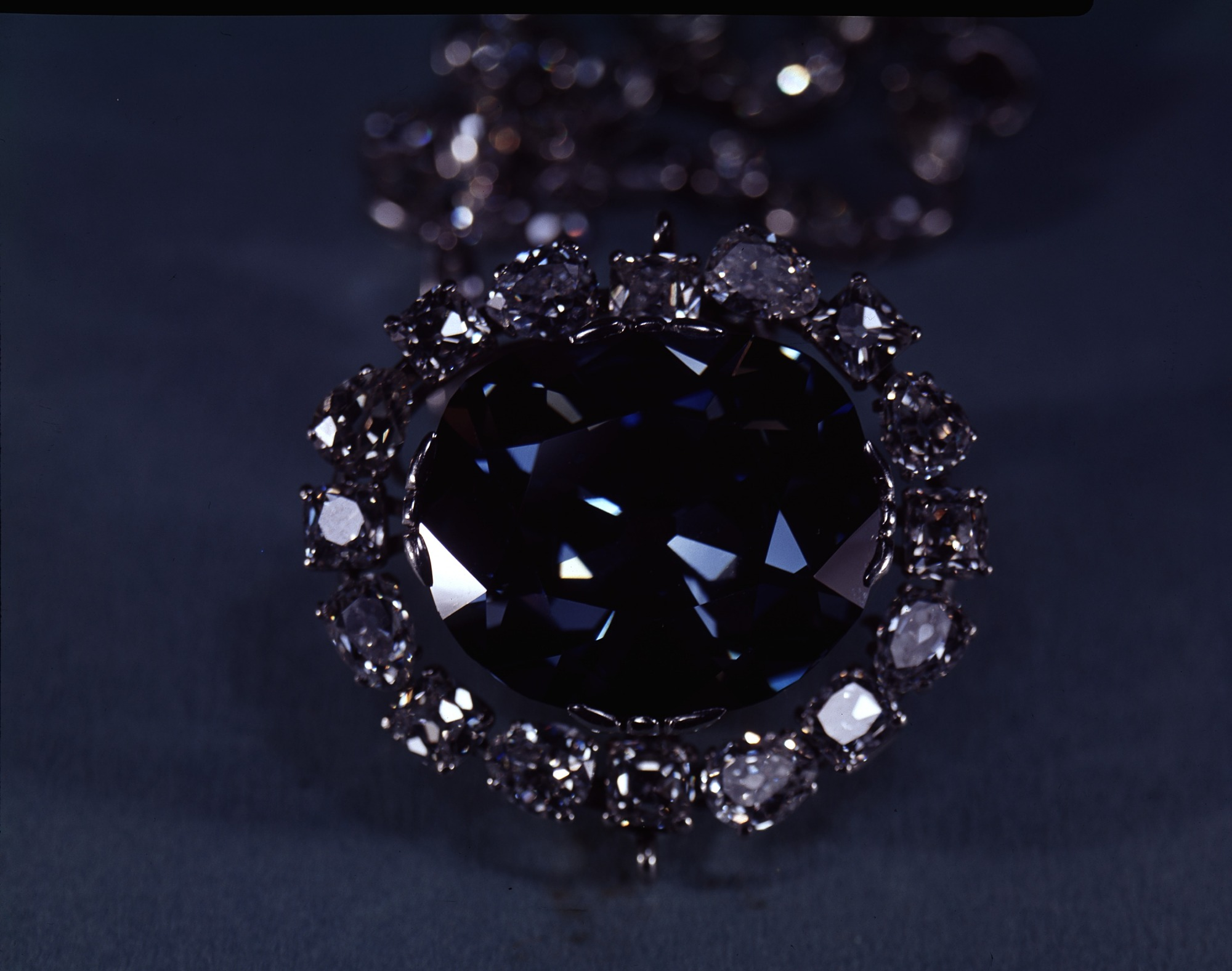 The Hope Diamond, by Unknown, 1974, Smithsonian Archives - History Div, 74-6034.