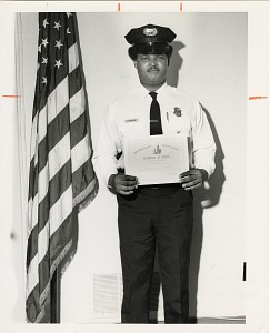 Image of Guard of the Month Pvt. Robert Gomillion, Company A