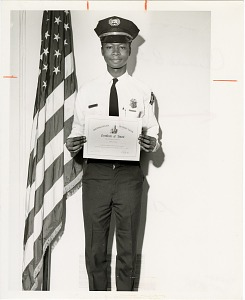 Image of Guard of the Month Pfc. Clarence T. Thompkins, Company C
