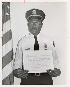 Image of Guard of the Month Pfc. Willie Lewis, Outpost Detachment