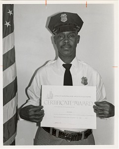 Image of Guard of the Month Pfc. Dennis Fribbley, Company D