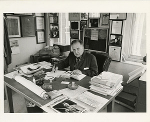 Image of Paul Garber at his Desk in the Arts and Industries Building