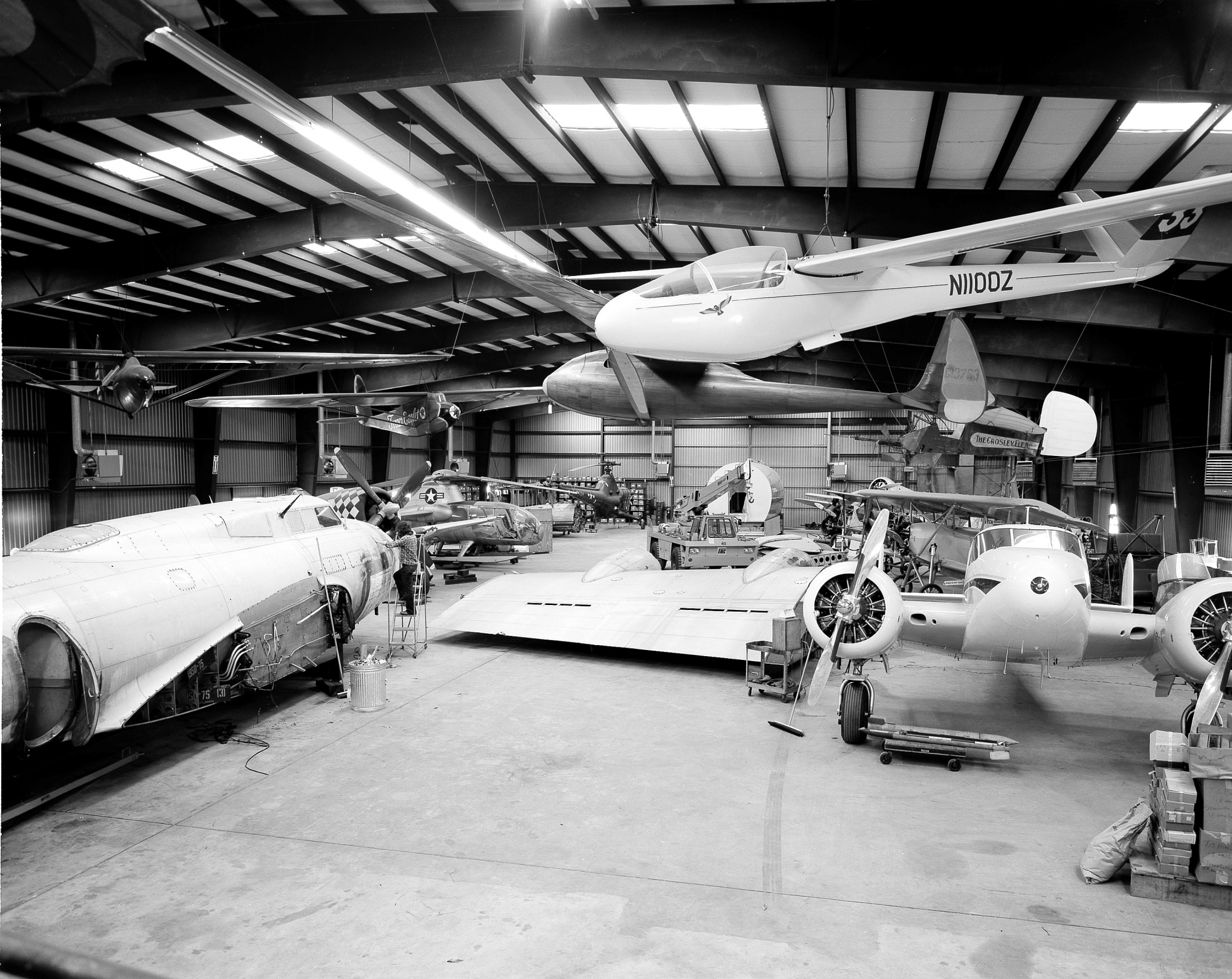 Aircraft at the Garber Facility